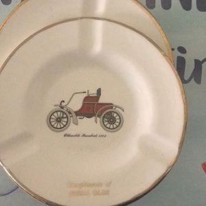 Set of 2 vintage Oldsmobile ashtrays
